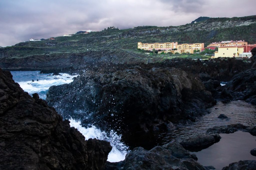 La Palma - view on the coast and hotels