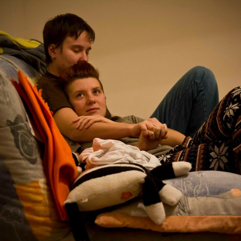 Portrait of a lesbian belarus couple