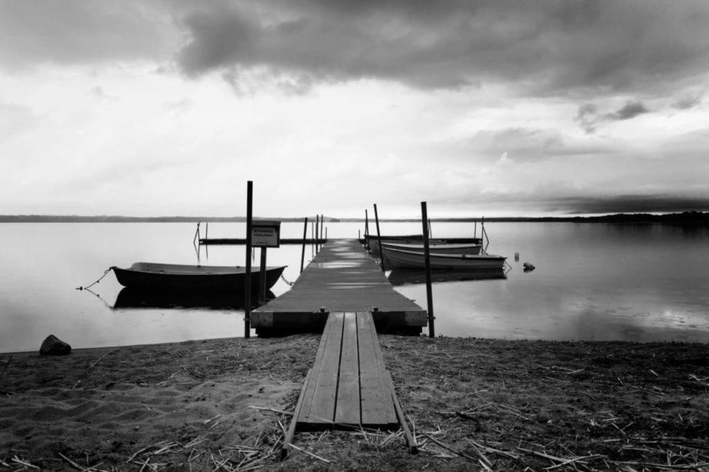 dock in a swedish lake