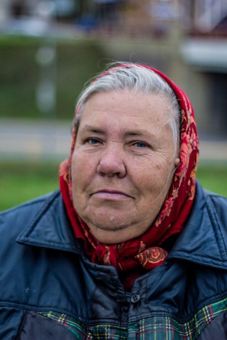 Portrait of old women in Belarus